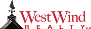 West Wind Realty logo in black and red